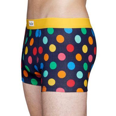 Modré boxerky Happy Socks s farebnými bodkami, vzor Big Dot