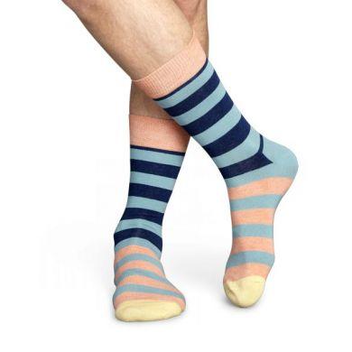 Barevné pruhované ponožky Happy Socks, vzor Stripe
