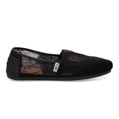 Černé dámské krajkové TOMS Alpargata