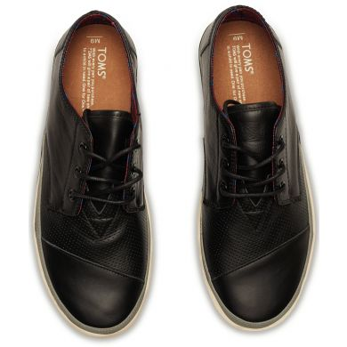 Černé pánské kožené tenisky TOMS Paseos