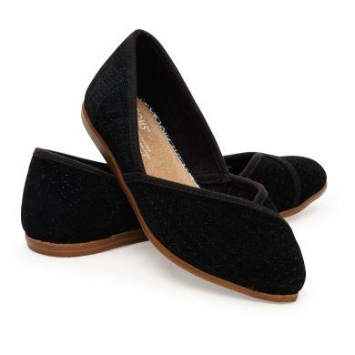 Černé dámské semišové balerínky TOMS