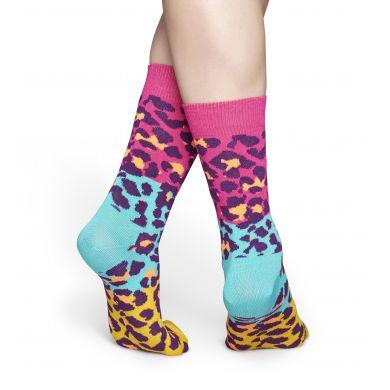 Barevné ponožky Happy Socks, vzor Block Leopard