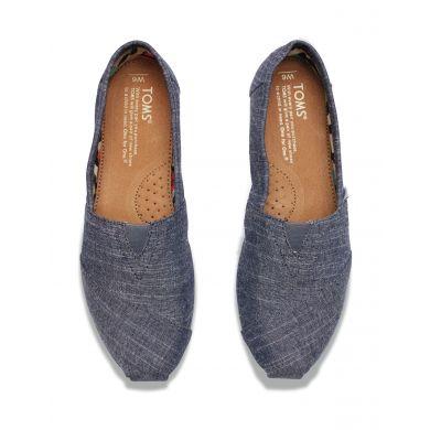 Modré dámské TOMS Chambray Alpargata