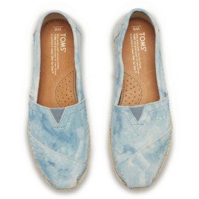 Modré dámské semišové TOMS Washed Alpargata
