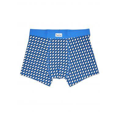 Modré boxerky Happy Socks se vzorem Basket