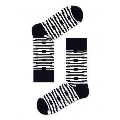 Černobílé ponožky Happy Socks se vzorem Barb Wire