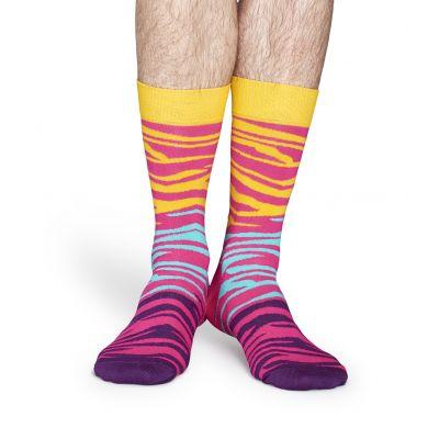 Barevné ponožky Happy Socks se vzorem Zebra