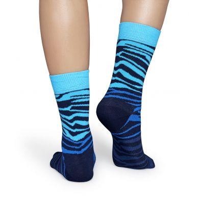 Modré ponožky Happy Socks se vzorem Zebra