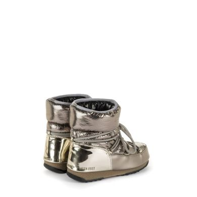Dámske platinové snehule Moon Boot Low Saint Moritz WP