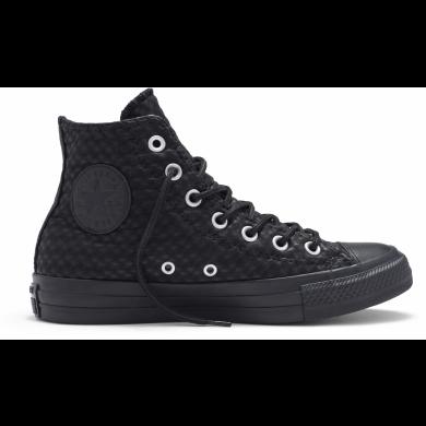Čierne Converse Chuck Taylor All Star Craft Cuir Hi