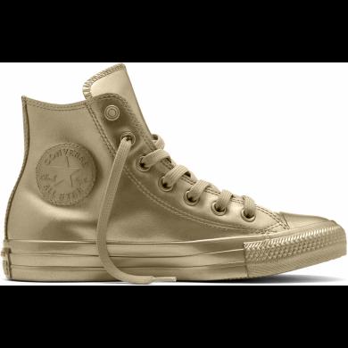 Zlaté Converse Chuck Taylor All Star Metallic Rubber Hi