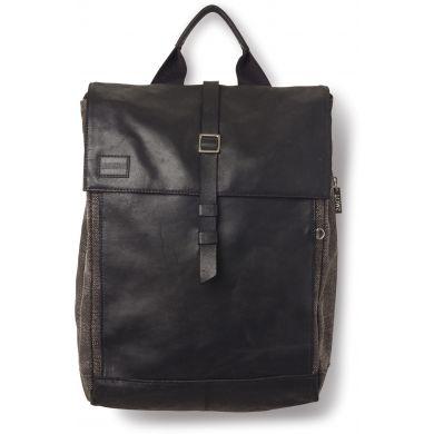 Černý kožený batoh TOMS