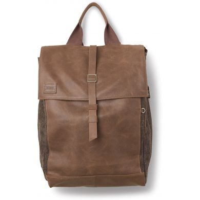 Hnědý kožený batoh TOMS