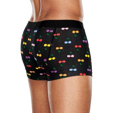 Čierne boxerky Happy Socks s farebnými čerešničkami, vzor Cherry