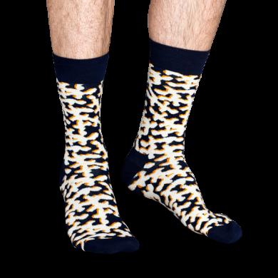 Modré ponožky s bílým vzorem Coral