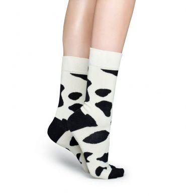 Čiernobiele ponožky Happy Socks so vzorom Cow