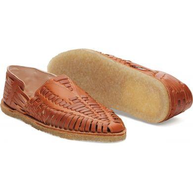 Cognac Leather Huarache Sandal