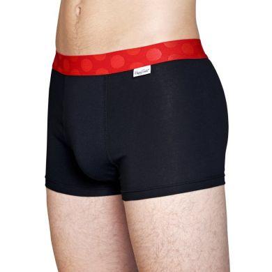 Čierne Solid boxerky Happy Socks s červenými bodkami