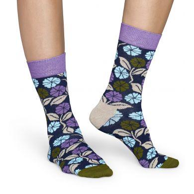 Farebné ponožky Happy Sock s kvetmi, vzor Desert Flower