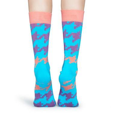 Farebné ponožky Happy Socks s kohútiou stopou, vzor Dogtooth