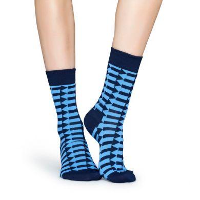 Modré ponožky Happy Socks so šípkami, vzor Direction