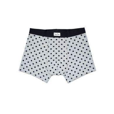 Šedé boxerky Happy Socks s černými tečkami, vzor Dot