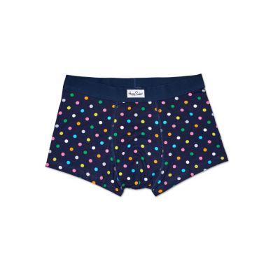 Modré boxerky Happy Socks s farebnými bodkami, vzor Dot