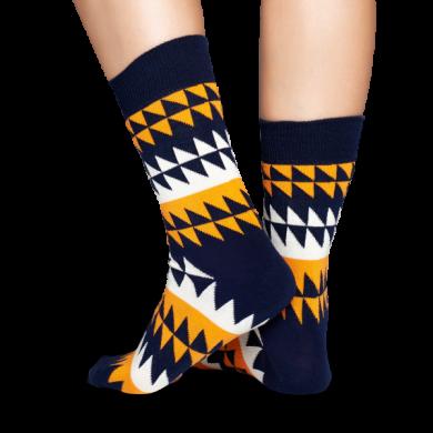 Barevné ponožky Happy Socks se zubatým vzorem, vzor Disrupted Stripe