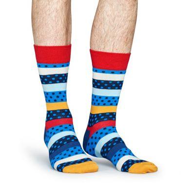 Farebné ponožky Happy Socks s bodkami a pruhmi, vzor Dotted Stripe