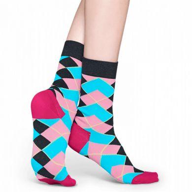 Farebné ponožky Happy Socks s károvaným vzorom Argyle X Iris Apfel