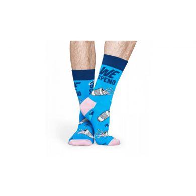 Farebné ponožky Happy Socks – God Saves // x Pasta Oner