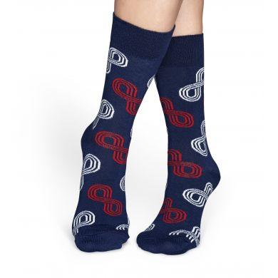 Modré ponožky Happy Socks s barevným vzorem Eternity