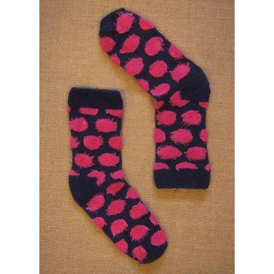 Modré ponožky Happy Socks s růžovými puntíky // kolekce Special Special