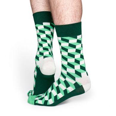 Zelené ponožky Happy Socks se vzorem Filled Optic