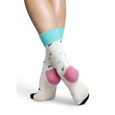 Bílé ponožky Happy Socks s barevnými prvky