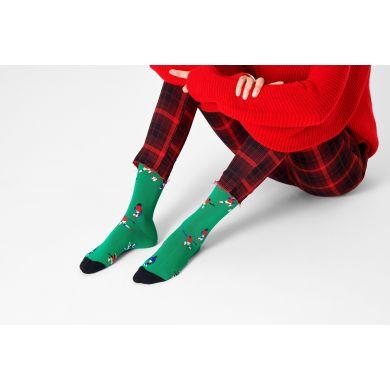Zelené ponožky Happy Socks, vzor Football