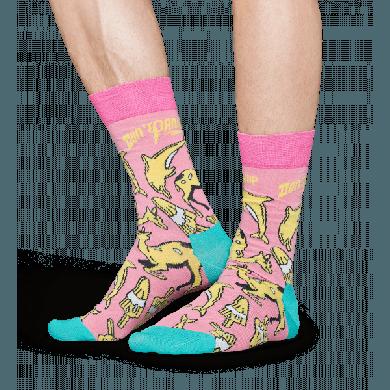 Farebné ponožky Happy Socks – Don´t panic // x Pasta Oner