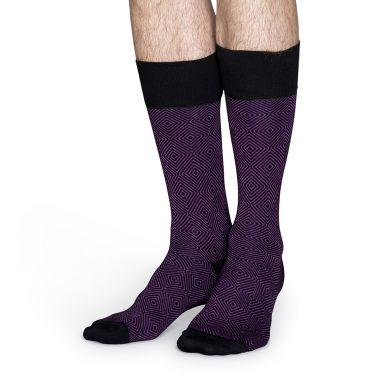 Fialové ponožky Happy Socks se vzorem Goose Eye // kolekce Dressed