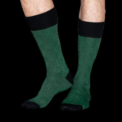 Zelené ponožky Happy Socks se vzorem Goose Eye // kolekce Dressed