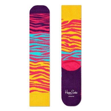 Barevné ponožky Happy Socks se vzorem Block Zebra // kolekce Athletic