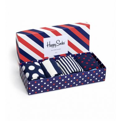 Darčekový box ponožiek Happy Socks Blue-Red - 4 páry