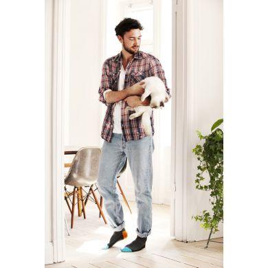 Šedivé ponožky Happy Socks s barevným vzorem Five Color