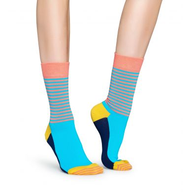 Farebné ponožky Happy Socks s prúžkami, vzor Half Stripe