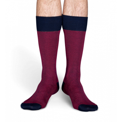 Růžové ponožky Happy Socks se vzorem Herringbone // kolekce Dressed