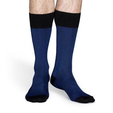 Modré ponožky Happy Socks se vzorem Herringbone // kolekce Dressed