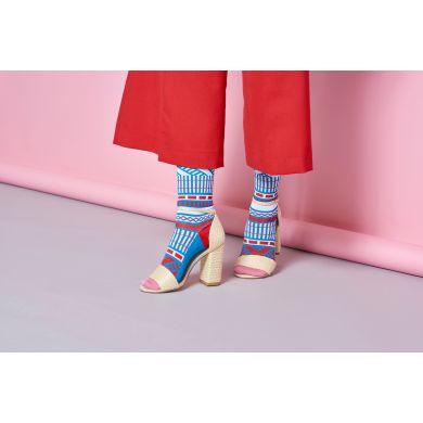 Dámske modro-biele teplé ponožky Happy Socks Estelle // kolekcia Hysteria