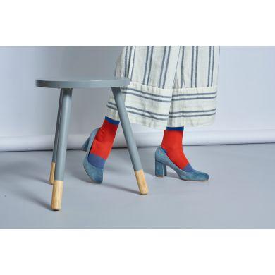 Dámske červené ponožky Happy Socks Liza // kolekcia Hysteria