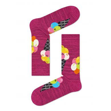 Růžové ponožky Happy Socks s barevnými zmrzlinami // Kolekce Special Special