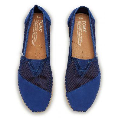 Modré dámské TOMS Mesh Alpargata