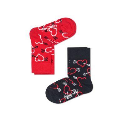 Detské farebné ponožky Happy Socks Zebra, dva páry - Arrows and hearts II